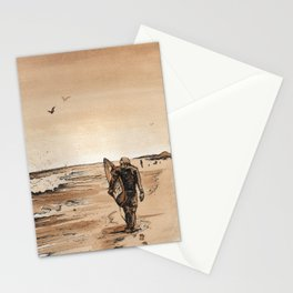 Coffee Art- Surf Stationery Cards