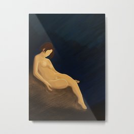 Abstract painting with a naked girl Metal Print