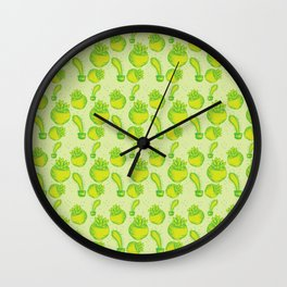 All the bright green succulents Wall Clock