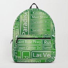 Las Vegas Street Signs Backpack