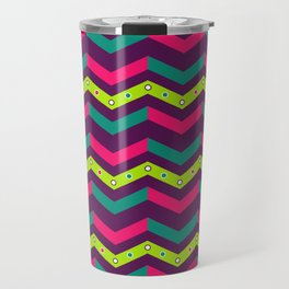Berry Geo Chevron Travel Mug