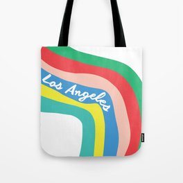 LOS ANGELES RAINBOW STRIPES Tote Bag