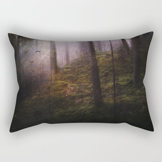 Travelling darkness Rectangular Pillow