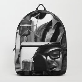 Birds in the Boneyard, Print Three: Petey in the Studio Backpack