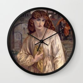 Dante Gabriel Rossetti - Salutation of Beatrice, 1880 Wall Clock