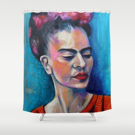 Je te ciel, hommage à Frida Kahlo Shower Curtain