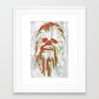 chewbacca Framed Art Prints featuring Chewbacca by mangen