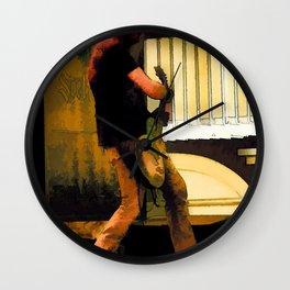 Rockin' Music - Guitarist Wall Clock