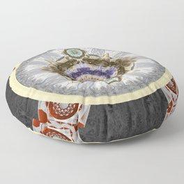 Flow and Gratitude Meditation Mandala Print Floor Pillow