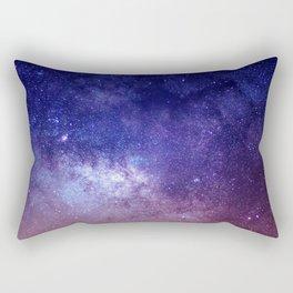 STARS - NIGHT - GALAXY - PURPLE - PINK - INDIGO Rectangular Pillow