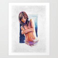 Lady in Waiting Art Print