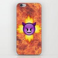 emoji iPhone & iPod Skins featuring Devil Emoji by jajoão