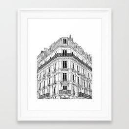 Parisian Facade Framed Art Print