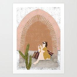 Travel Girl Art Print