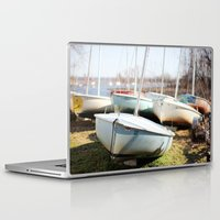 boats Laptop & iPad Skins featuring Boats by myhideaway