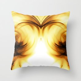abstract fractals mirrored reacc80c82i Throw Pillow