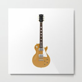 Gold Electric Guitar Metal Print