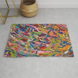 Abstract Music Rumba colors waves pattern Rug