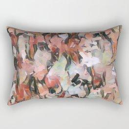 Abstract Confetti Landscape Peach Rectangular Pillow