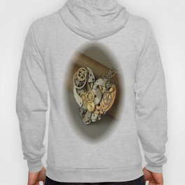 Steampunk Heart of Gold and Silver Hoody