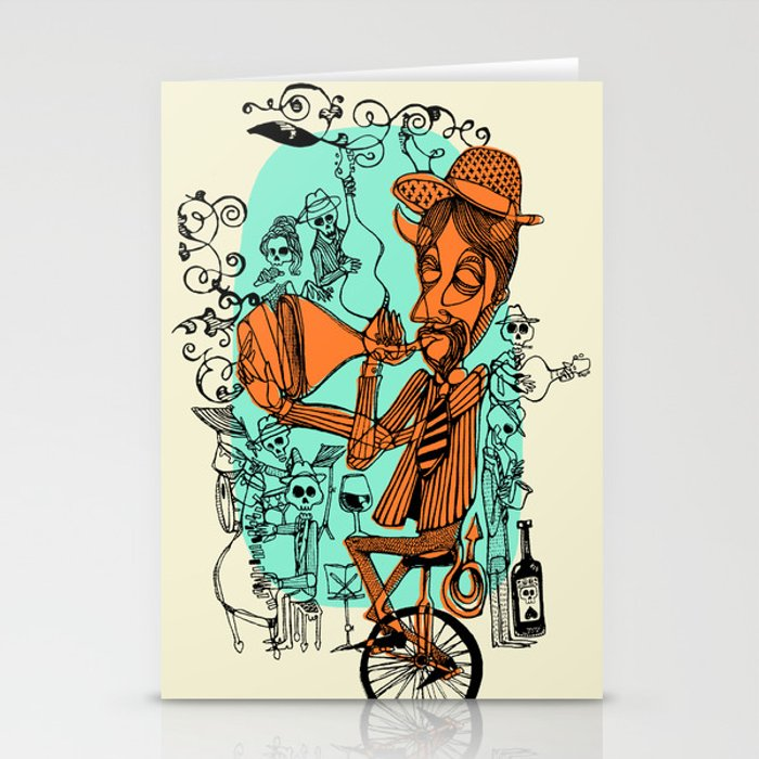 Welcome to the hell´s party Stationery Cards