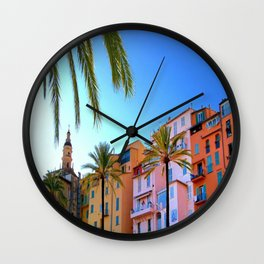 Colorful and Cool Menton Wall Clock