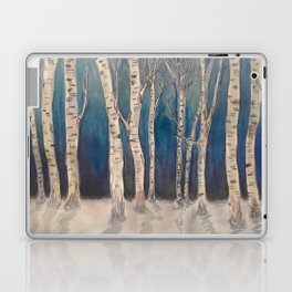 Birch Grove At Midnight Laptop & iPad Skin