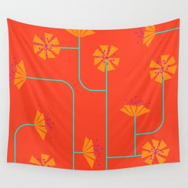 FLORESFLOR ROJO Wall Tapestry