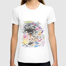 coloured splotches T-shirt
