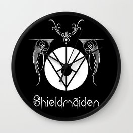 Shieldmaiden S Wall Clock
