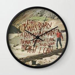 Ramblin' Man Wall Clock