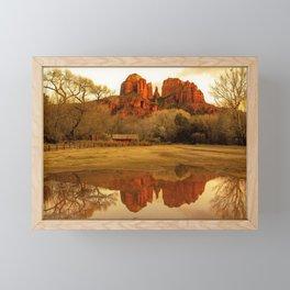 Cathedral Rock Sedona Rainy Days by Reay of Light Framed Mini Art Print