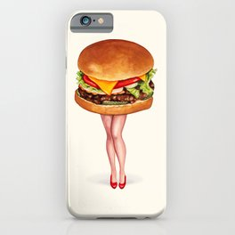 Cheeseburger Pin-Up iPhone Case