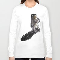 geode Long Sleeve T-shirts featuring Geode Face IV by hunnydoll