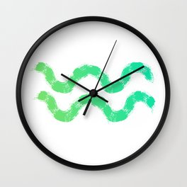 Zodiac sign Aquarius Wall Clock