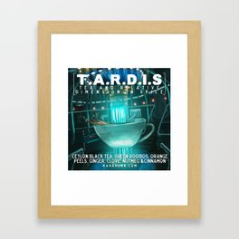 TARDIS tea Framed Art Print