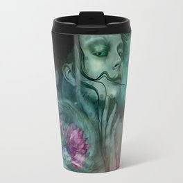 """Sirena between pastel cactus flowers"" Travel Mug"