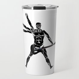 Rock man with guitar Travel Mug