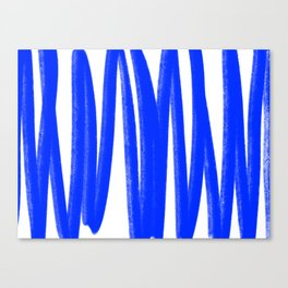 Yummy blue lines Canvas Print