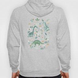 Folk Floral Dinosaur Hoody