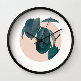Home plant Wall Clock