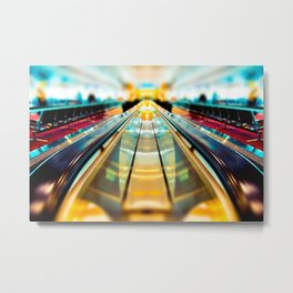 Let's Ride The Conveyor Belt To Candyland Metal Print