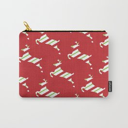 Pretty Christmas Reindeer 2 Carry-All Pouch