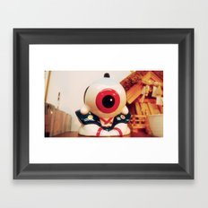 Samurai eye Framed Art Print