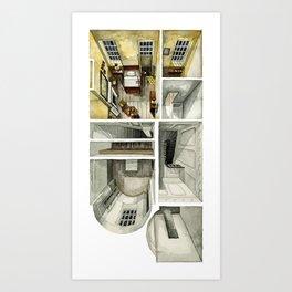 PHANTOM THREAD. Second level of the London House Art Print