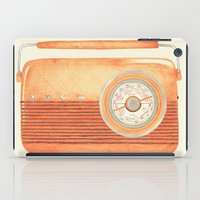 radio iPad Cases featuring Radio Silence by One Curious Chip