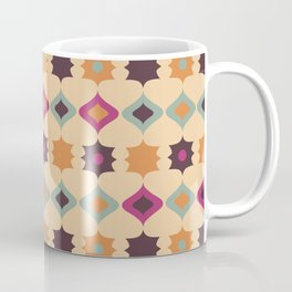 Seamless retro pattern geometrical vector texture background Coffee Mug
