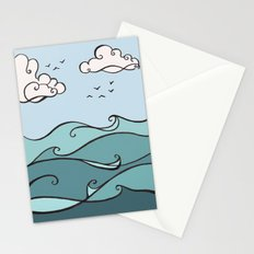 Clouds and Waves Stationery Cards