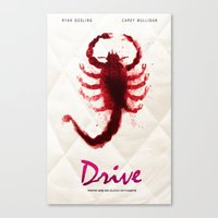 drive Canvas Prints featuring Drive by Luke Eckstein