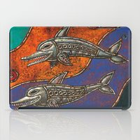 dolphins iPad Cases featuring Dolphins by Sherdeb Akadan